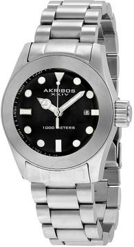 Akribos XXIV Silver-tone Stainless Steel Men's Watch