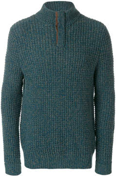 N.Peal waffle collared cashmere jumper