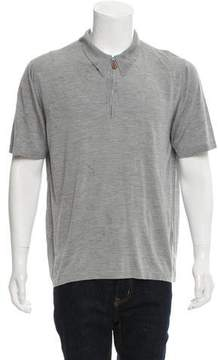 Hermes Silk Zip-Up Polo T-Shirt