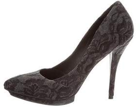 Elizabeth and James Lace Pointed-Toe Pumps