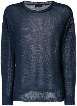Roberto Collina distressed crew neck sweater