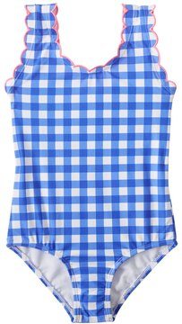 Hula Star Girls' Summer Skies Gingham One Piece Swimsuit (2T6X) - 8154243