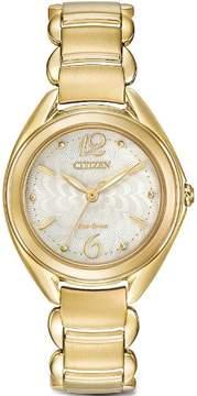 Citizen Women's Gold-Tone Eco-Drive L Dress Watch FE2072-89A