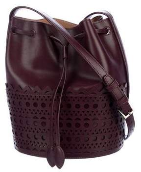 Alaia Laser Cut Mini Bucket Bag