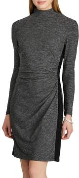 Chaps Women's Mockneck Jersey Sheath Dress