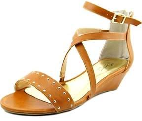 Thalia Sodi Pia Open Toe Synthetic Wedge Sandal.