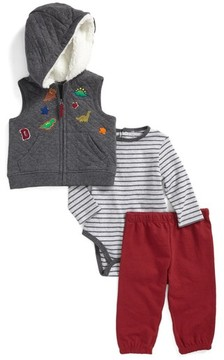 Little Me Infant Boy's Dino Vest, Bodysuit & Pants Set