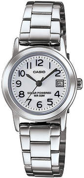Casio Easy Reader Womens Stainless Steel Solar Bracelet Watch LTPS100D-7BVCF