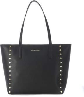 Michael Kors Rivington Black Leather Tote Bag With Studs - NERO - STYLE