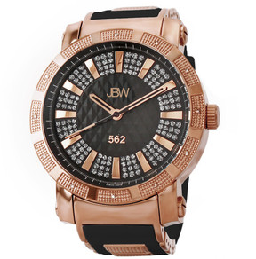 JBW 562 Diamond Black Dial Rose Gold-plated Stainless Steel Men's Watch