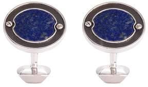 Stephen Webster 'England Made Me' sapphire rhodium silver cufflinks