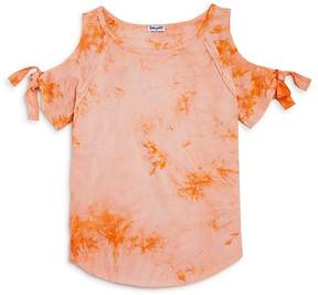Splendid Girls' Tie-Dyed Cold-Shoulder Top - Big Kid