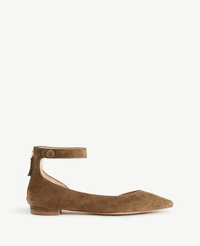 Ann Taylor Evana Suede D'Orsay Flats