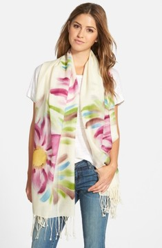 La Fiorentina Women's Floral Wool Scarf