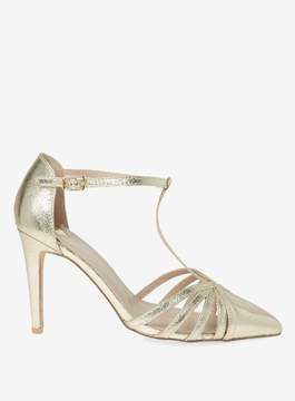 Dorothy Perkins Wide Fit Gold Exclusive Glee Court Shoes