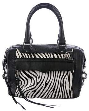 Rebecca Minkoff Leather-Trimmed M.A.B. Bag - ANIMAL PRINT - STYLE