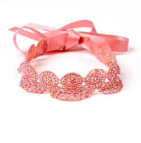 Amrita Singh Pink Cerci Lace Choker
