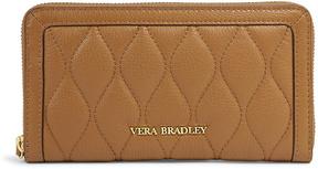 Vera Bradley Cognac Quilted Georgia Leather Wallet - COGNAC - STYLE