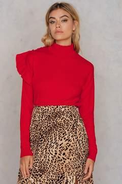 NA-KD Na Kd Turtle Neck Frill Sweater
