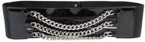 Lauren Ralph Lauren Women's Triple Chain Patent Stretch Belt