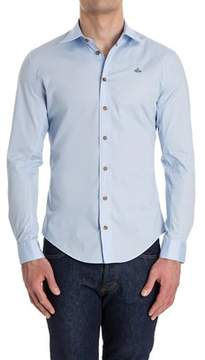 Vivienne Westwood Men's Light Blue Cotton Shirt.