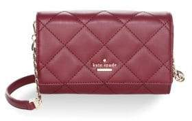 Kate Spade Emerson Place Agnes Quilted Leather Clutch - CHERRYWOOD - STYLE