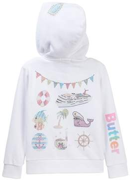 Butter Shoes Super Soft Fleece Zip Hoodie (Little Girls)