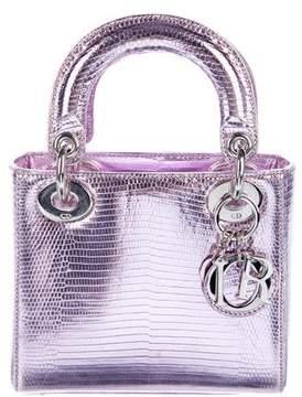 Christian Dior Lizard Mini Lady Bag