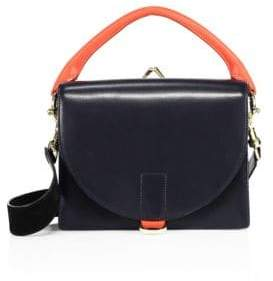Sacai Hybrid Leather Coin Purse Satchel