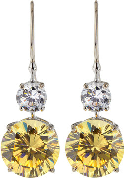 FANTASIA Double Round-Drop CZ Earrings