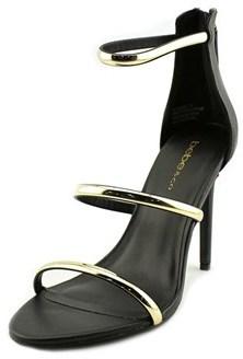 Bebe Berdine Open Toe Synthetic Sandals.