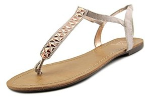 Material Girl Sage Open Toe Canvas Thong Sandal.