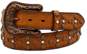 Ariat Western Belt Womens Stones Studs Rope Leather M Tan A1522608