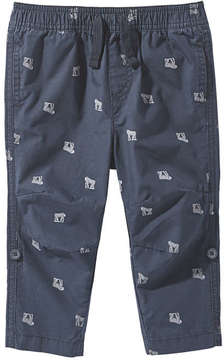 Joe Fresh Baby Boys' All Over Print Pant, JF Midnight Blue (Size 6-12)