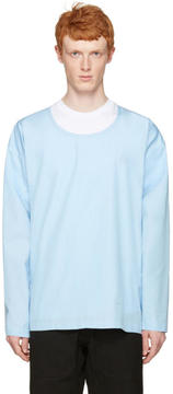 Marni Blue Cotton Velcro Shirt