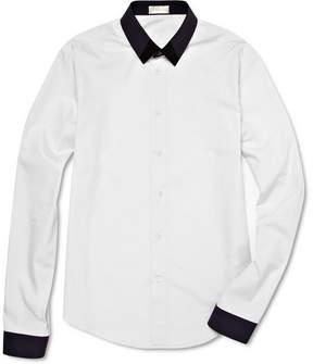 Balenciaga Two Tone Collared Shirt