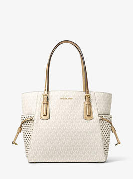 Michael Kors Voyager Small Logo Tote - NATURAL - STYLE