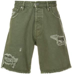 Just Cavalli distressed utility shorts