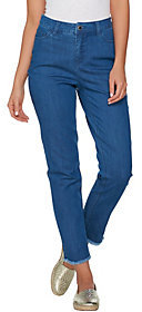C. Wonder As Is 5-Pocket Ankle Jeans with Frayed Hem