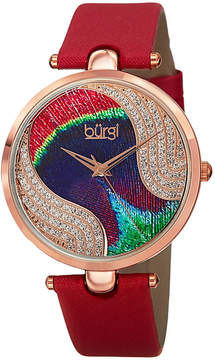 Burgi Womens Red Strap Watch-B-131rd