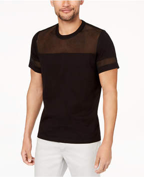 INC International Concepts I.n.c. Men's Mesh Insert T-Shirt, Created for Macy's
