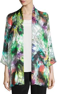 Caroline Rose Light Show Devore Mid-Length Cardigan/Jacket