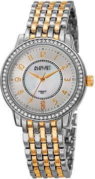 August Steiner Womens Two Tone Strap Watch-As-8246ttg