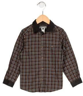 Bonpoint Boys' Plaid Button-Up Shirt