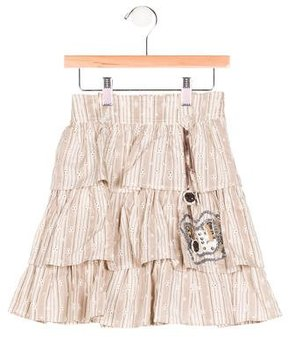 Christian Dior Girls' Embellished Eyelet Skirt