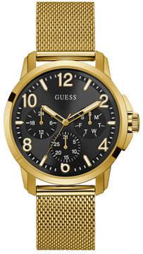 GUESS Gold-Tone Mesh Multifunction Watch