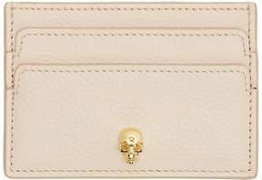 Alexander McQueen Pink and Gold Skull Card Holder