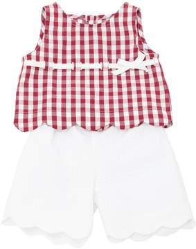 La Stupenderia Gingham Shirt & Seersucker Shorts