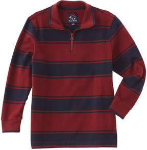 Brooks Brothers Boys' Burgundy & Navy Striped Pullover