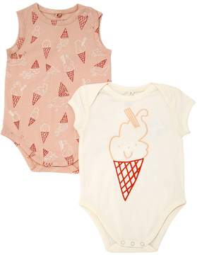 Stella McCartney Set Of 2 Ice Cream Jersey Bodysuits
